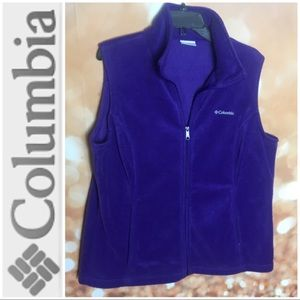 Columbia Benton Springs Purple Fleece Vest 1X